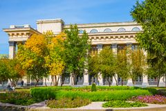 Square, Novosibirsk state academic Opera and ballet theatre Stock Images