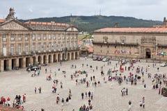Square of Obradoiro in Santiago de Compostela stock photos