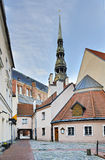 Square in old city of Riga Royalty Free Stock Photo