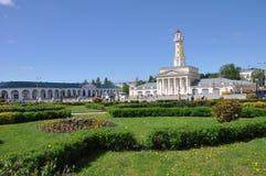 Square of the old city Russia Kostroma stock photo