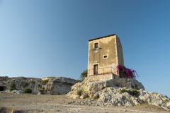 Square old house in Sicily Royalty Free Stock Images