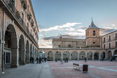 Square in old medieval city Royalty Free Stock Image