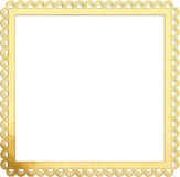 Square old paper frame with beautiful edges. Square old paper frame isolated on white Stock Images