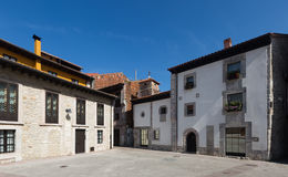 Square at old part of Llanes Royalty Free Stock Images