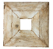 Square old picture frame Stock Photo