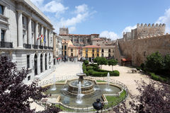 Square in the old town of Avila, Spain Stock Photo