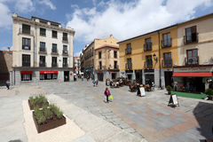 Square in the old town of Avila, Spain Royalty Free Stock Photography