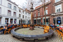 Square in the old town of Maastricht, Netherlands Royalty Free Stock Images