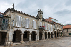 Square in the old town of Pontevedra in Galicia. Main square and traditional arches in the old town of Pontevedra in Galicia, Spain Stock Photos