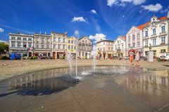 Square in the old town of Tczew Stock Photo