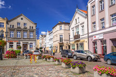 Square in the old town of Tczew Royalty Free Stock Photo