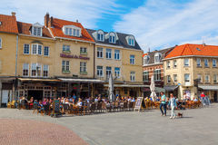 Square in the old town of Valkenburg, Germany Royalty Free Stock Image