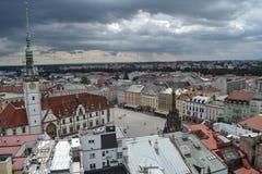 Square, Olomouc. Beautiful Olomouc Plaza. Czech Republic stock image
