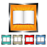 Square open book buttons Royalty Free Stock Image