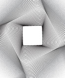 Square optical art background black and white Royalty Free Stock Photos