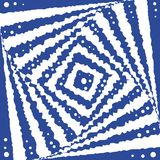 Square optical illusion. Royalty Free Stock Images