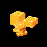 Square Orange Royalty Free Stock Photo