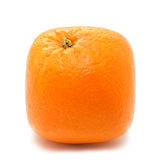 Square orange. Isolated over white Royalty Free Stock Photography
