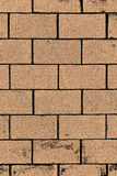 Square orange brick wall background. Stock Images