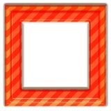 Square orange frame Royalty Free Stock Photography