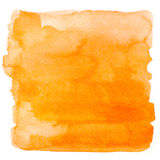 Square orange watercolor banner background Royalty Free Stock Photography