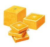 Square Orange on white background Stock Photos