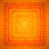 Square orient ornament background Royalty Free Stock Image