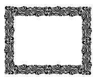Square ornamental frame in black. Interesting frame isolated on white background Royalty Free Stock Photography