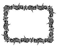 Square ornamental frame. Interesting black frame isolated on white background Royalty Free Stock Images