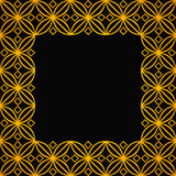 Square ornamental square - 2d Royalty Free Stock Photos