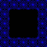 Square ornamental square - 2h Royalty Free Stock Photo
