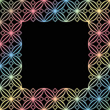 Square ornamental square - 1a Royalty Free Stock Image