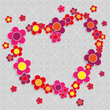 Square Ornaments Flowersheart Royalty Free Stock Photo