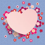 Square Ornaments Heart Flowers Spring Colors Royalty Free Stock Image