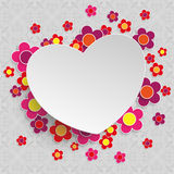Square Ornaments Heart Flowers Royalty Free Stock Image