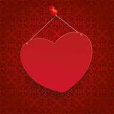 Square Ornaments Red Heart Tack Royalty Free Stock Image