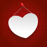 Square Ornaments White Heart Tack Royalty Free Stock Photography