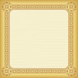 Square ornate frame and background. Stock Photography