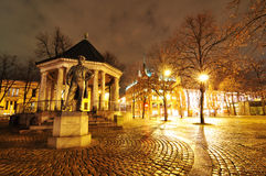 Square in Oslo, Norway stock images