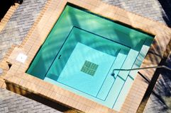 Square Outdoor Jacuzzi Stock Photo