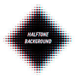 Square overlayed halftone background. Abstract retro background with stereo halftone effect stock illustration