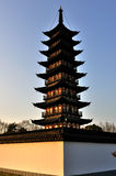 The Square Pagoda Stock Photography