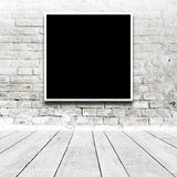 Square Painting hanging on the art gallery wall Royalty Free Stock Images