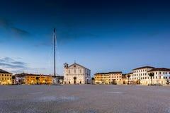 The square of Palmanova, venetian fortress in Friuli Venezia Giu Royalty Free Stock Images