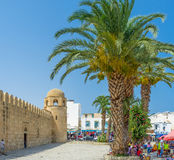 The square with palms Royalty Free Stock Images