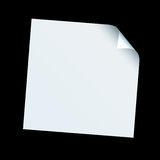 Square paper curl Royalty Free Stock Images