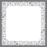 Square paper cut doily Stock Photography