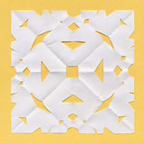 Square paper doily Royalty Free Stock Images