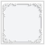Square paper frame Stock Photography