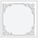 Square paper frame Royalty Free Stock Photo
